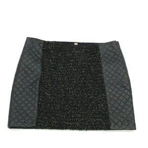 Bailey 44 Skirt Mini Pencil Tweed Quilted Black